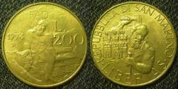 S.Marino  200  Lire  1994  FAO  SPL/FDC - Saint-Marin