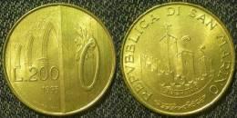 S.Marino  200  Lire  1993  QFDC - Saint-Marin