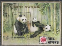 Korea DPR 1991 - Panda Bear PhilaNippon 91 Souvenir Sheet Cancelled Very Fine - Bären