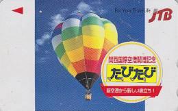 Télécarte Japon - JTB -  MONTGOLFIERE - HOT AIR BALLOON Japan Phonecard - 606 - Sport