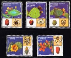 RO) 1989 AFRICA-CONGO, DIVERSITY OF CACTUS, SET FOR 5, MNH. - Democratic Republic Of Congo (1997 - ...)