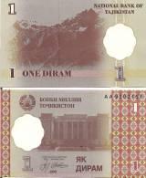 Tajikistan P10a, 1 Dram, Sadriddin Ayni Opera And Theatre, Dushanbe - Tajikistan
