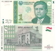 Tajikistan P14a, 1 Somoni, Poet Tursunzoda UNLISTED - Tadschikistan