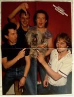 Musik-Poster  Spider Murphy Gang  -  Rückseite : Frank Zander 3D ,  Von Popcorn Ca. 1982 - Manifesti & Poster