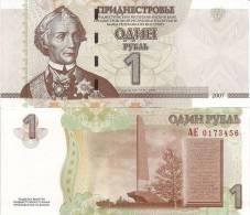 Transnistria P-42, 1 Rubl', General Suvorov - Bankbiljetten