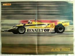 Poster  -  Renault  -  Alain Prost  -  Rückseitig Donald Duck  -  Von Pop-Rocky Ca. 1982 - Autorennen