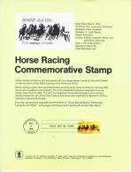 U.S. SP 347    HORSE  RACING - Souvenirs & Special Cards
