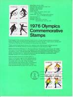 U.S. SP 419   1976  OLYMPICS - Souvenirs & Special Cards