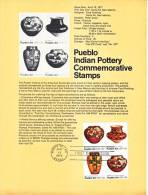 U.S. SP 425   PUEBLO  INDIAN  POTTERY - Souvenirs & Special Cards