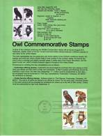 U.S. SP 455   FAUNA  BIRDS  OWLS - Souvenirs & Special Cards