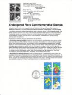 U.S. SP 468   ENDANGERED  FLORA - Souvenirs & Special Cards