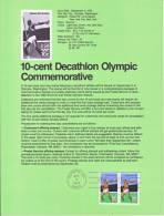 U.S. SP 472   OLYMPICS  DECATHLON  JAVALIN - Souvenirs & Special Cards