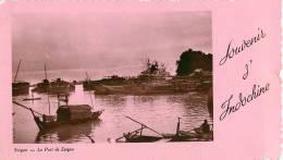 CPSM Souvenir D'Indochine-Saigon-Le Port-Minicarte-Etat Moyen  L1202 - Cartes Postales