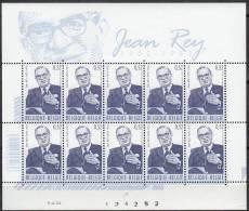 Belgique 2002 COB Feuille Complet 3097 Neuf ** Cote (2016) 14.00 Euro Jean Rey Docteur En Droit - Panes
