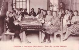 Carentan (50) Institution Notre Dame Cours De Trvaux Manuels CPA   Non Circulée - Ecoles
