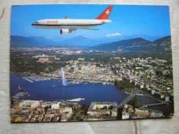 Airplane - Airbus -Geneve Un Airbus De La Swissair    D95288 - 1946-....: Moderne