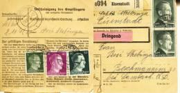 Paketkarte  Eisenstadt Mit 2,95 RM Hitler Nach Bachmanning, 1942 - 1918-1945 1st Republic