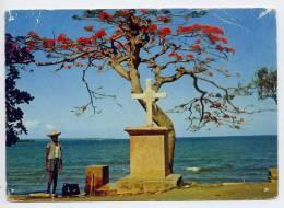 Guadeloupe--PETIT-BOURG--1960--Sur Le Bord De La Route De Pointe à Pitre à Basse-Terre (animée,calvaire),cpsm - Guadeloupe