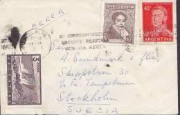"Argentina ""Petite"" Via Aerea BUENOS AIRES 1964 Cover Letra To STOCKHOLM Sweden Suecia (2 Scans) - Luftpost"