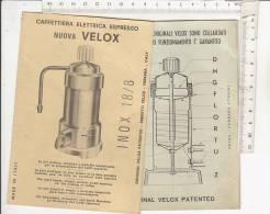 PO7455B# ISTRUZIONI CAFFETTIERA ELETTRICA CAFFE' ESPRESSO NUVA VELOX Anni '50 - Scienze & Tecnica