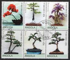 Angola 2000 Bonsai Block Of 6 CTO - Angola