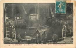 71 LE CREUSOT USINES SCHNEIDER  ACIERIES BESSEMER COULEE DE L'ACIER EN LINGOTIERE  EDITION DURET - Le Creusot