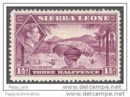 Sierra Leone King George VI 1938 Watermark Crown - Sierra Leone (1961-...)