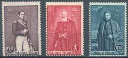 BELGIQUE - 1930 - MNH/***  - LEOPOLD I & II + ALBERT I - COB 302-304 - Lot 7268 - Belgique