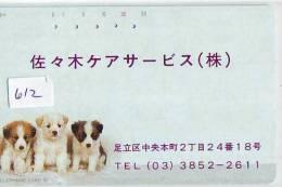 Télécarte Japon * 110-164 * TELECA * PHONECARD JAPAN * TELEFONKARTE (612) PRIVATE PRIVE * CHIEN * DOG * HUND * HOND - Japan