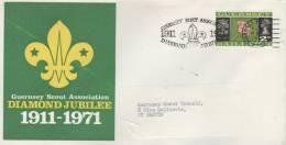 GUERNSEY  Scout Association Diamond Jubilee 1911/1971  11/09/71 - Scoutisme