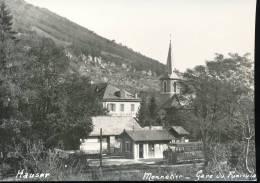 Automotrice En Gare De Monnetier - Eglise , Vers 1925 ( Coll. G. Lepere ) - Trains