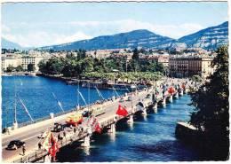 Geneve: TRAM/STRAßENBAHN, CITROËN TRACTION, OLDTIMER TRUCK , VW - Le Pont Du Mont Blanc - Car/Auto - Suisse/CH/Schweiz - Taxis & Fiacres