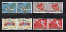 """Philippines 1992 Greeting Stamps, """"I LOVE YOU"""" 8v MNH - Fiestas"""
