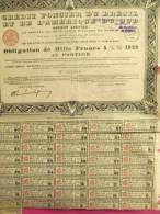 Crédit Foncier Du Brésil Et De L'Amérique Du Sud/Obligation De1 000 Frs/BRESIL/1929     ACT30 - Bank & Insurance