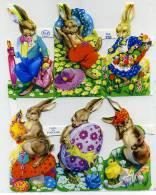 DECOUPIS PÂQUES OEUF LIEVRE FLEUR - Easter