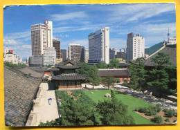 City View Of Toksugung . Text About A Match Of Olumpic Games Of SEOUL .KOREA - Corea Del Sud