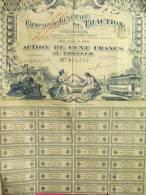Compagnie Générale De Traction/Action De 100 Francs Au Porteur /PARIS/1897        ACT35 - Transports