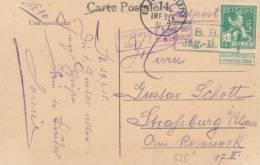 519/20 - Carte-Vue De BRUGES TP Pellens K.D. Feldpost Expedition 31.7.15 + S.B. Jager Bat Vers STRASBOURG Censure Elsas - Esercito Tedesco