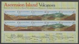 Ascension (1978) Yv. Bf. 10   /  Volcano - Vulcan - Volcan - Crater - Volcans