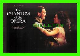 POSTERS ON CARD -  THE PHANTOM OF THE OPERA, 2004  - GERALD BUTLER  - JOEL SCHUMACHER FILM  - - Affiches Sur Carte
