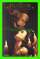 POSTERS ON CARD -  THE PHANTOM OF THE OPERA, 2004  - GERALD BUTLER & EMMY ROSSUM  - JOEL SCHUMACHER FILM  - - Affiches Sur Carte