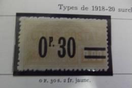 Lot  2 Timbres Pour Colis Postaux  1926 Types 1918_20 Surcharges - France
