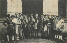 CARTE PHOTO TROUPE DE THEATRE REPRESENTATION A PARADIS MAI 1911 - Théâtre
