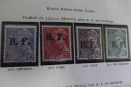 Lot 10 Timbres De La Liberation - France
