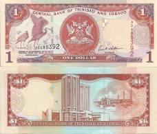 Trinidad-Tobago P41, $1, Scarlet Ibis / Industrial Complex, Oil Complex - Trinidad & Tobago