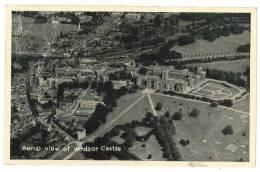 B616 GRAN BRETAGNA WINDSOR CASTE VEDUTA AEREA 1953 VIAGGIATA FRANCOBOLLO ASPORTATO - Windsor Castle