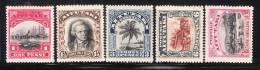 Aitutaki 1920 Capt. James Cook Palm Avarua 5v Mint - Aitutaki