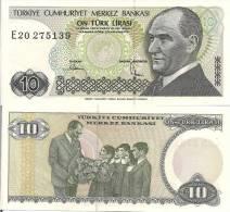Turkey P193, 10 Lira, Ataturk / Ataturk With Children - Turkey