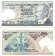 Turkey P195, 500 Lira, Ataturk / Clock Tower - Turkey
