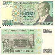 Turkey P204, 50,000 Lira, Ataturk / Statute - Turkey